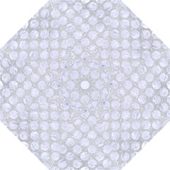 Circles2 White Marble & Silver Glitter Golf Umbrellas by trendistuff