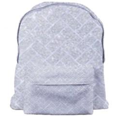 Brick2 White Marble & Silver Glitter Giant Full Print Backpack by trendistuff