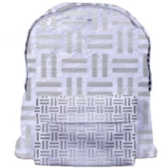 Woven1 White Marble & Silver Brushed Metal (r) Giant Full Print Backpack