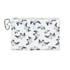 Birds Pattern Photo Collage Canvas Cosmetic Bag (medium) by dflcprints