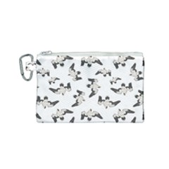 Birds Pattern Photo Collage Canvas Cosmetic Bag (small) by dflcprints