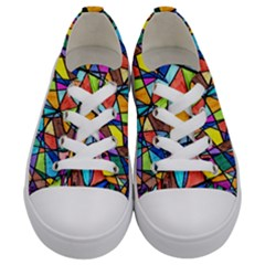 Pattern 13 Kids  Low Top Canvas Sneakers