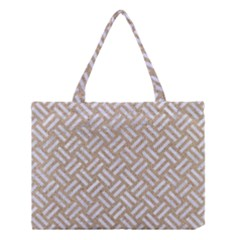 Woven2 White Marble & Sand Medium Tote Bag by trendistuff