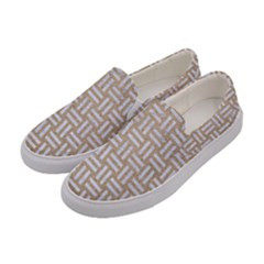 Woven1 White Marble & Sand Women s Canvas Slip Ons by trendistuff