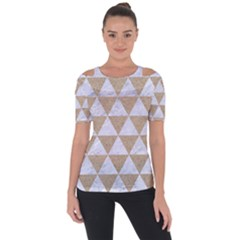 Triangle3 White Marble & Sand Short Sleeve Top