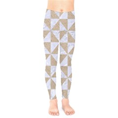 Triangle1 White Marble & Sand Kids  Legging