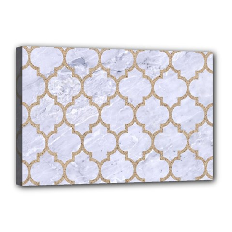Tile1 White Marble & Sand (r) Canvas 18  X 12  by trendistuff