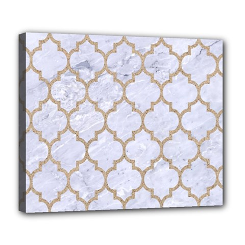 Tile1 White Marble & Sand (r) Deluxe Canvas 24  X 20   by trendistuff
