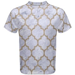 Tile1 White Marble & Sand (r) Men s Cotton Tee