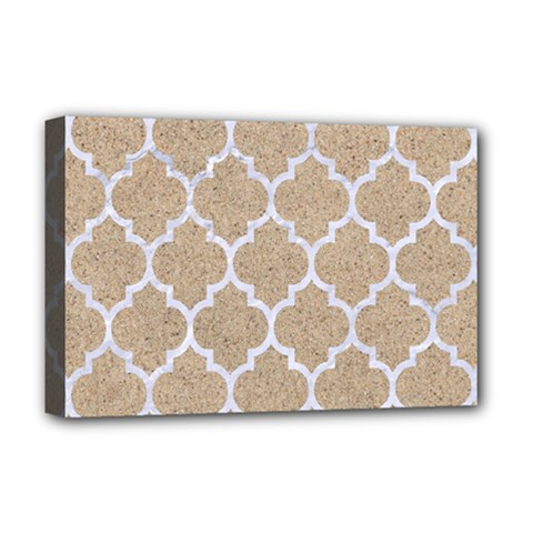 Tile1 White Marble & Sand Deluxe Canvas 18  X 12   by trendistuff