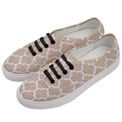 Tile1 White Marble & Sand Women s Classic Low Top Sneakers by trendistuff