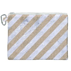 Stripes3 White Marble & Sand (r) Canvas Cosmetic Bag (xxl) by trendistuff