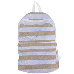 Stripes2white Marble & Sand Foldable Lightweight Backpack by trendistuff