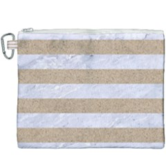 Stripes2white Marble & Sand Canvas Cosmetic Bag (xxxl) by trendistuff