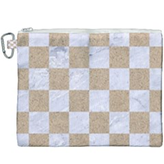 Square1 White Marble & Sand Canvas Cosmetic Bag (xxxl) by trendistuff