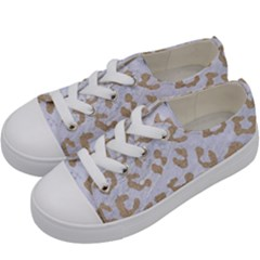 Skin5 White Marble & Sand Kids  Low Top Canvas Sneakers by trendistuff