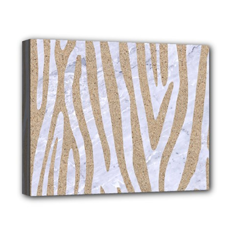 Skin4 White Marble & Sand Canvas 10  X 8  by trendistuff