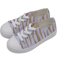 Skin3 White Marble & Sand (r) Kids  Low Top Canvas Sneakers by trendistuff