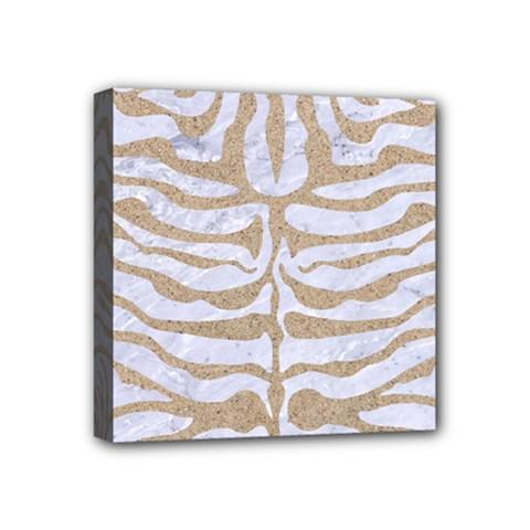 Skin2 White Marble & Sand (r) Mini Canvas 4  X 4  by trendistuff