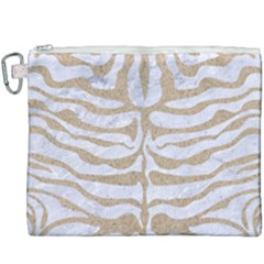 Skin2 White Marble & Sand (r) Canvas Cosmetic Bag (xxxl) by trendistuff