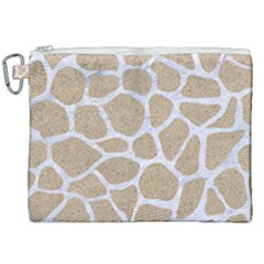 Skin1 White Marble & Sand (r) Canvas Cosmetic Bag (xxl) by trendistuff