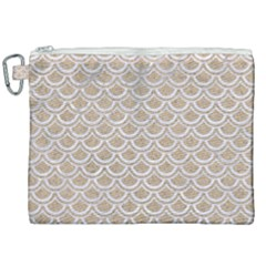Scales2 White Marble & Sand Canvas Cosmetic Bag (xxl) by trendistuff