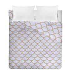 Scales1 White Marble & Sand (r) Duvet Cover Double Side (full/ Double Size) by trendistuff