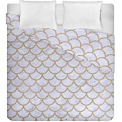 Scales1 White Marble & Sand (r) Duvet Cover Double Side (king Size) by trendistuff
