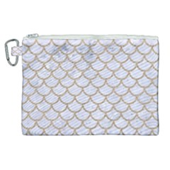Scales1 White Marble & Sand (r) Canvas Cosmetic Bag (xl) by trendistuff