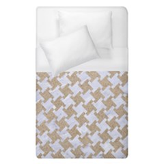 Houndstooth2 White Marble & Sand Duvet Cover (single Size) by trendistuff
