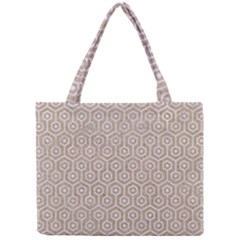 Hexagon1 White Marble & Sand Mini Tote Bag by trendistuff