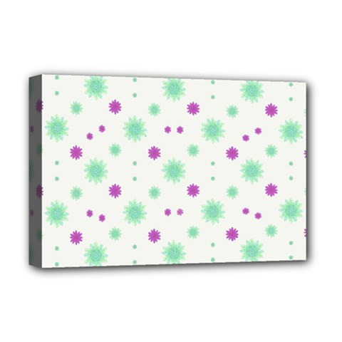 Stars Motif Multicolored Pattern Print Deluxe Canvas 18  X 12   by dflcprints