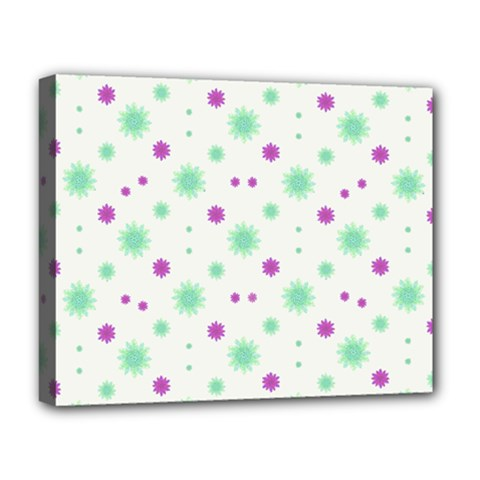Stars Motif Multicolored Pattern Print Deluxe Canvas 20  X 16   by dflcprints