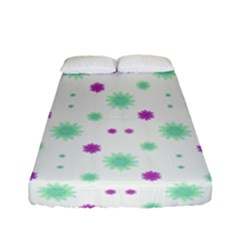 Stars Motif Multicolored Pattern Print Fitted Sheet (full/ Double Size) by dflcprints