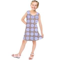 Circles1 White Marble & Sand Kids  Tunic Dress