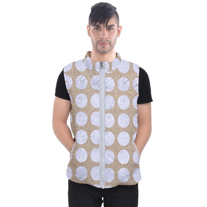 CIRCLES1 WHITE MARBLE & SAND Men s Puffer Vest