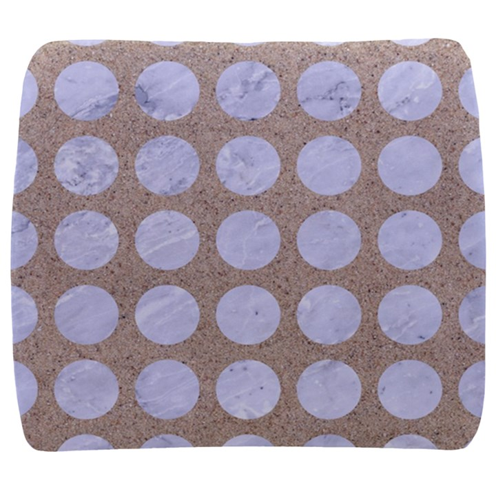 CIRCLES1 WHITE MARBLE & SAND Back Support Cushion