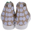 CIRCLES1 WHITE MARBLE & SAND Women s Mid-Top Canvas Sneakers View4