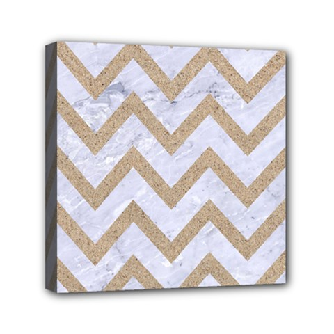 CHEVRON9 WHITE MARBLE & SAND (R) Canvas Travel Bag