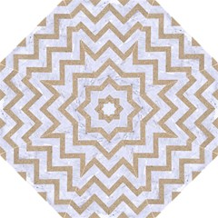CHEVRON9 WHITE MARBLE & SAND (R) Straight Umbrellas