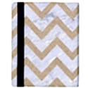 CHEVRON9 WHITE MARBLE & SAND (R) Apple iPad Mini Flip Case View3