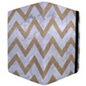 CHEVRON9 WHITE MARBLE & SAND (R) Apple iPad Mini Flip Case View4