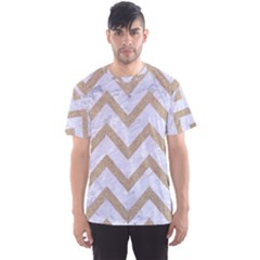 CHEVRON9 WHITE MARBLE & SAND (R) Men s Sports Mesh Tee