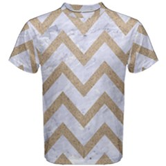 CHEVRON9 WHITE MARBLE & SAND (R) Men s Cotton Tee