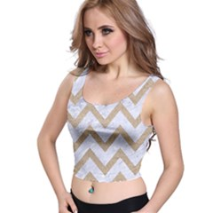 CHEVRON9 WHITE MARBLE & SAND (R) Crop Top