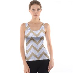 CHEVRON9 WHITE MARBLE & SAND (R) Tank Top