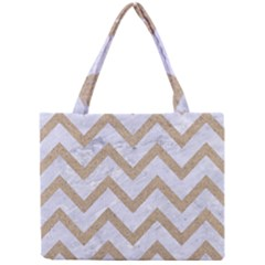 CHEVRON9 WHITE MARBLE & SAND (R) Mini Tote Bag