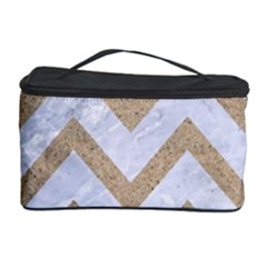 CHEVRON9 WHITE MARBLE & SAND (R) Cosmetic Storage Case