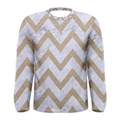 CHEVRON9 WHITE MARBLE & SAND (R) Men s Long Sleeve Tee