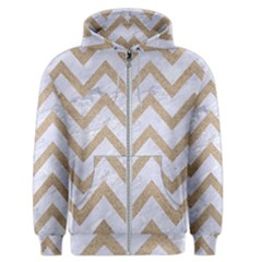 CHEVRON9 WHITE MARBLE & SAND (R) Men s Zipper Hoodie